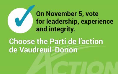 On November 5, in Vaudreuil-Dorion, we vote!